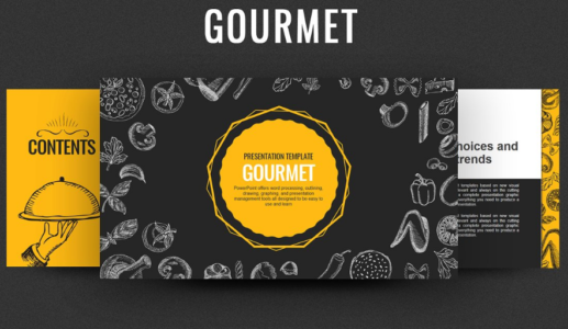 Gourmet Classic Food PowerPoint