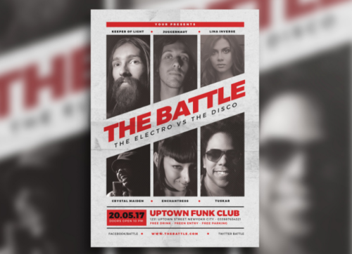 Music Battle Flyer Design