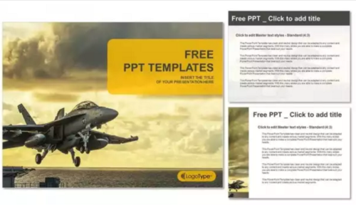 Jet Fighter PowerPoint Template