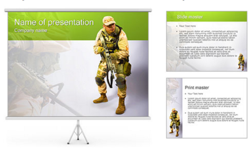20 great military army powerpoint templates ginva military worker powerpoint template toneelgroepblik Image collections