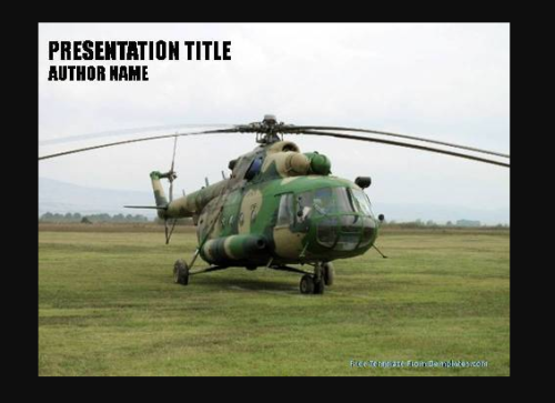 Army Chopper PowerPoint Template