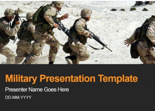 Military Army Armed Forces PowerPoint