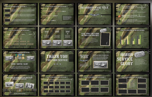 20 great military army powerpoint templates ginva vintage military powerpoint template toneelgroepblik Image collections
