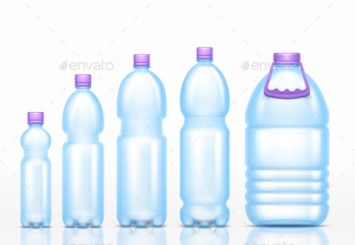 Realistic Bottles Mockup