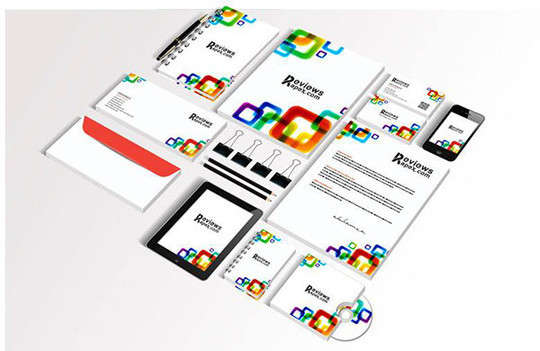 white_corporate_identity_template