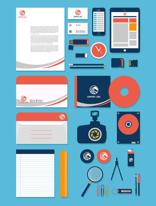 free_vector_stationery_design_mockup_template