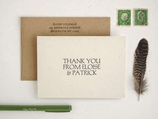 modern_thank_you_card_set_kraft_paper_letterpress_printed_bulk_wedding_set_boathouse