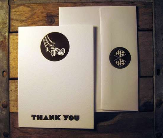 vintage_gran_prix_custom_design_letterpress_thank_you_cards_with_envelopes
