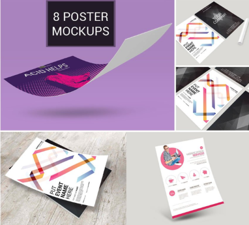 8 Flyer Mockup Bundle