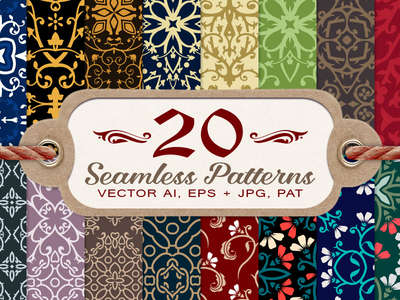 20_damask_and_floral_seamless_patterns