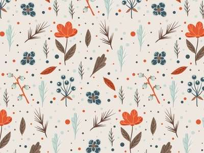 floral_pattern_with_orange_flowers