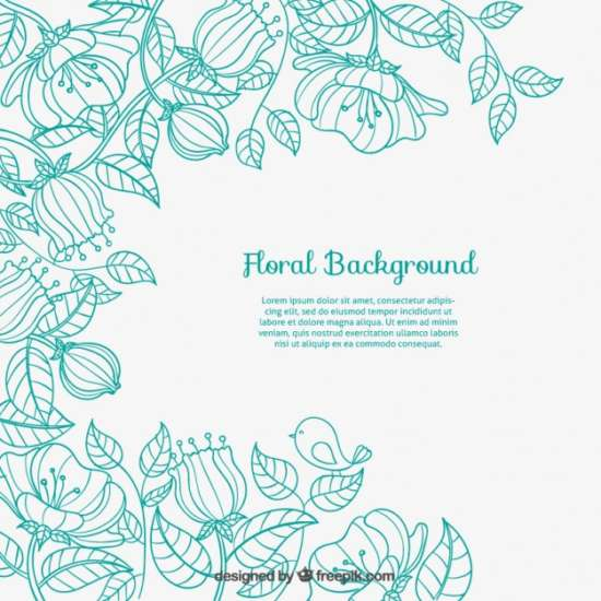 sketchy_floral_background