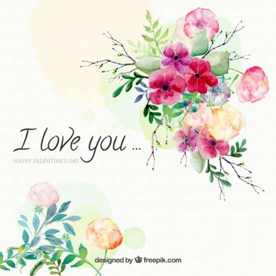 watercolor_background_of_flowers_with_love_message