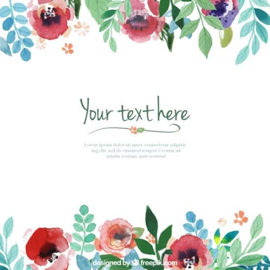 hand_painted_flowers_template