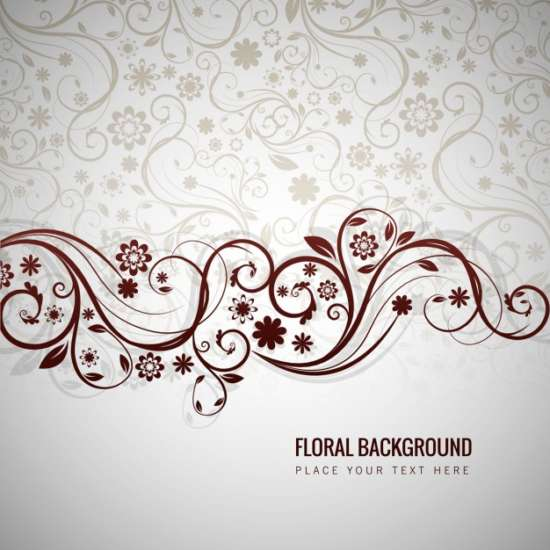 grey_floral_background