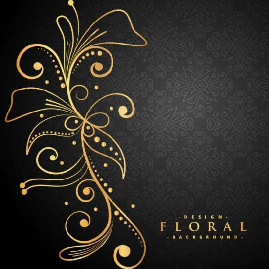 stylish_golden_floral_decoration_on_black_background