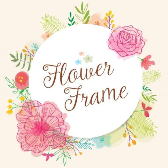 cute_frame_with_hand_drawn_flowers_and_watercolors