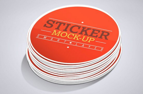 Stickers Mockup with Smart Object