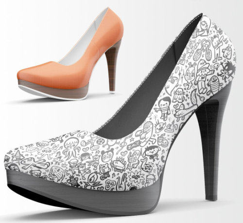 High Heels Shoes Mockup