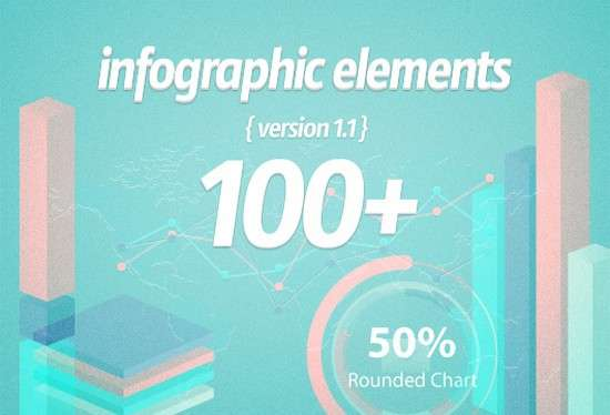 100_infographic_elements_vector