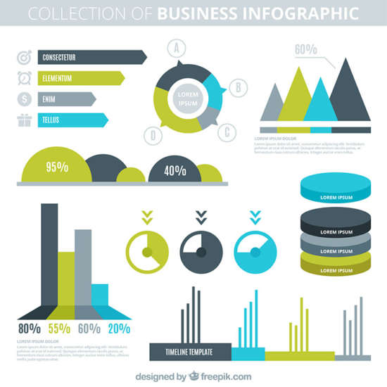 company_infography_in_flat_design