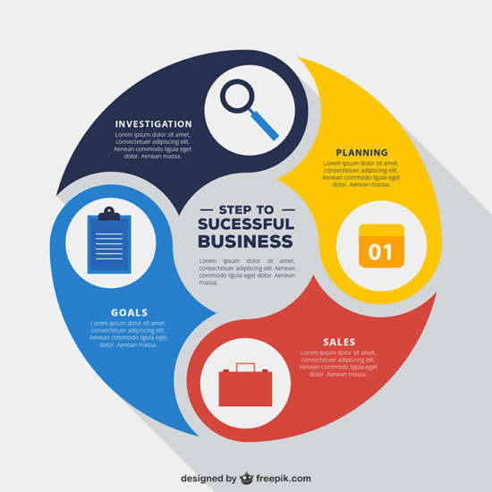 rounded_infographic_business