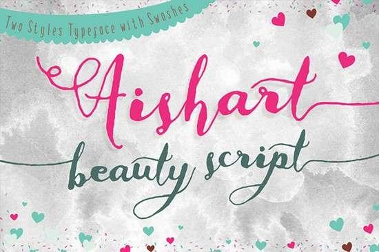 aishart,_modern_calligraphy_typeface