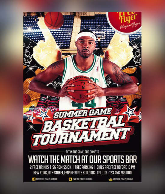 best_basketball_sport_psd_flyer