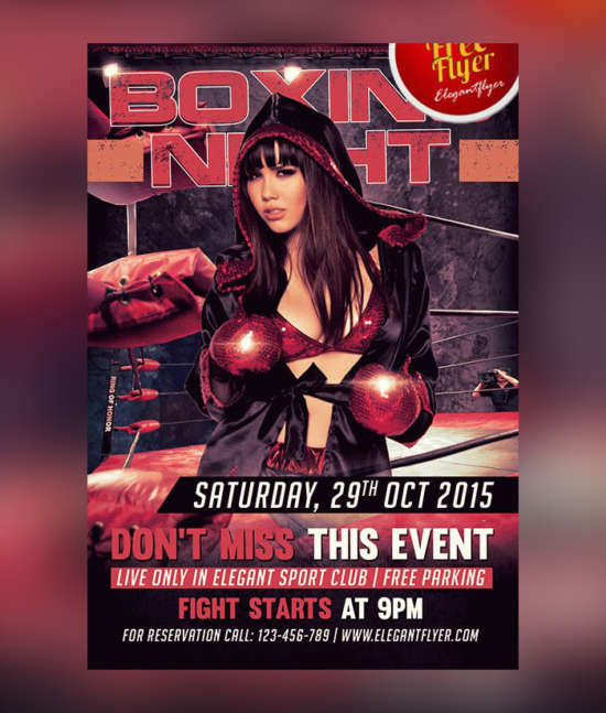 boxing_night_sports_flyer_psd