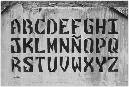 clasto_stencil_font