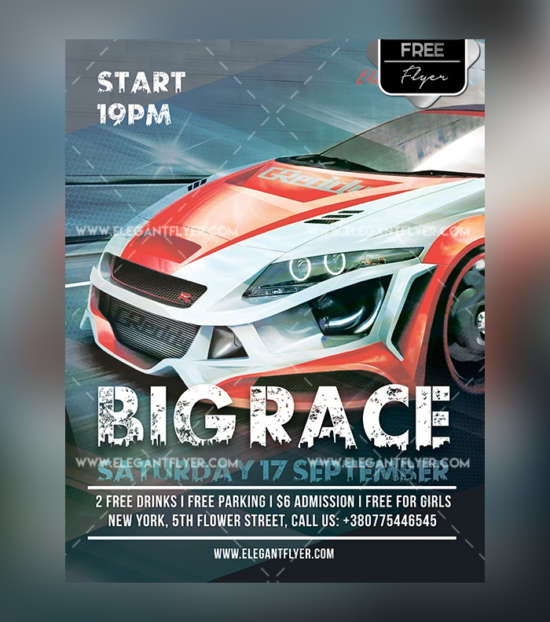 car_race_motorsport_free_flyer_psd
