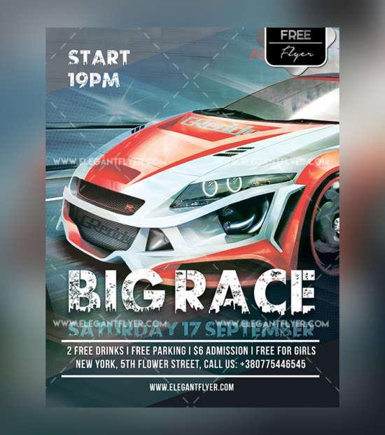 car_race_motorsport_free_flyer_psd