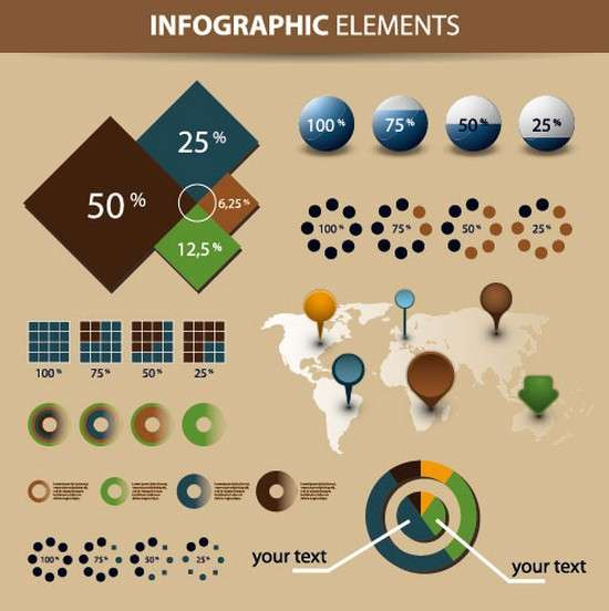 economy_infographics_and_chart_design_elements_vector