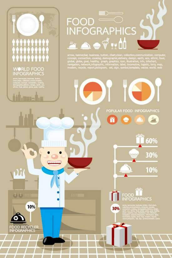 elements_of_food_infographics_vector