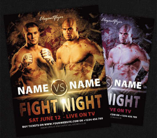 fight_night_boxing_sports_flyer