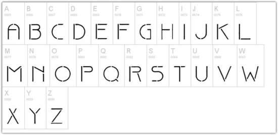 20+ Impressive Stencil Fonts | Ginva