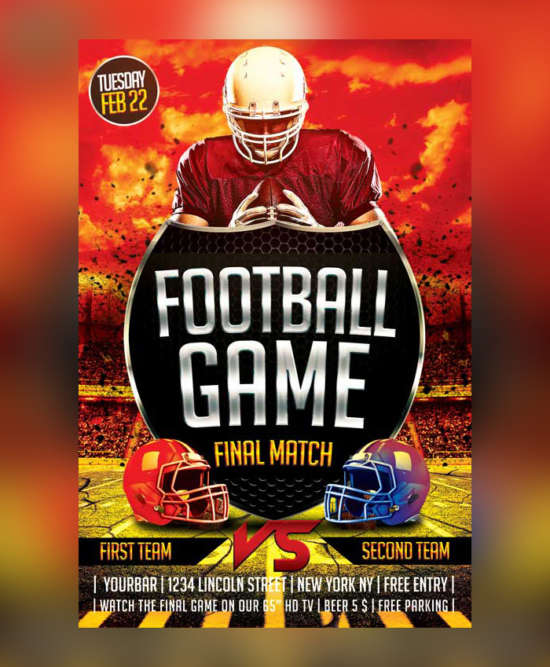 football_sport_flyer_psd_template