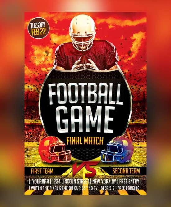 football_sport_flyer_psd_template