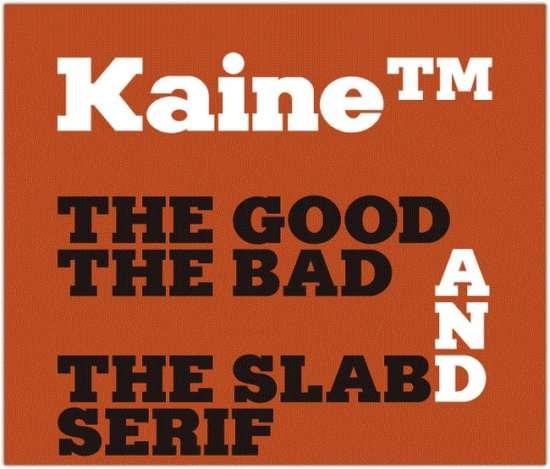 kaine_typeface