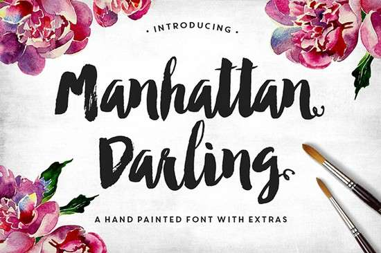 manhattan_darling_typeface