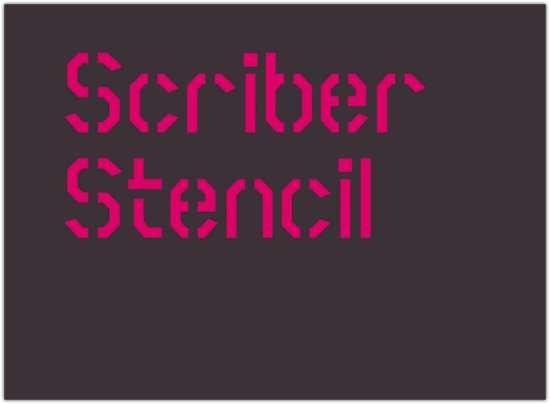 scriber_bold_stencil_font