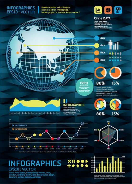 set_of_year_infographic_and_diagram_vector_material_05