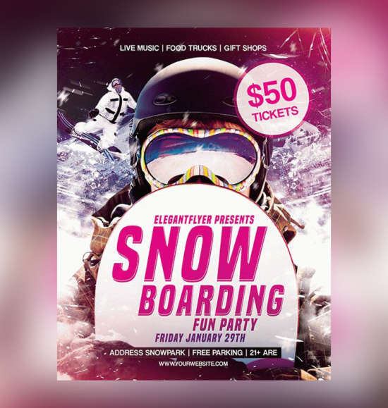 snowboarding_fun_party_psd_flyer