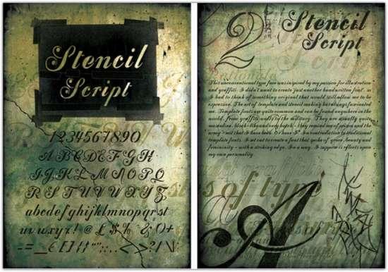 stencil_script_font_design