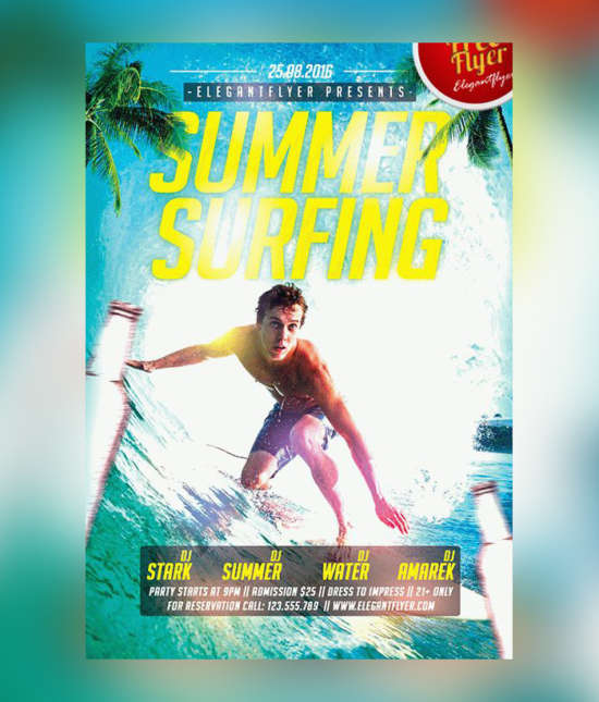 summer_surfing_free_flyer_template