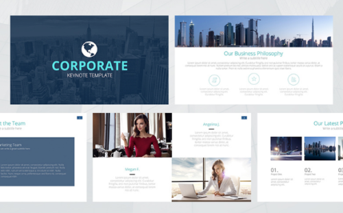 Free Corporate Keynote Presentation Template
