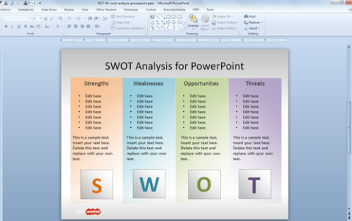 Slidehunter Free SWOT PowerPoint Template