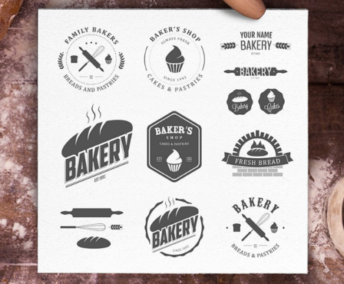 Premium Bakery logos bundle