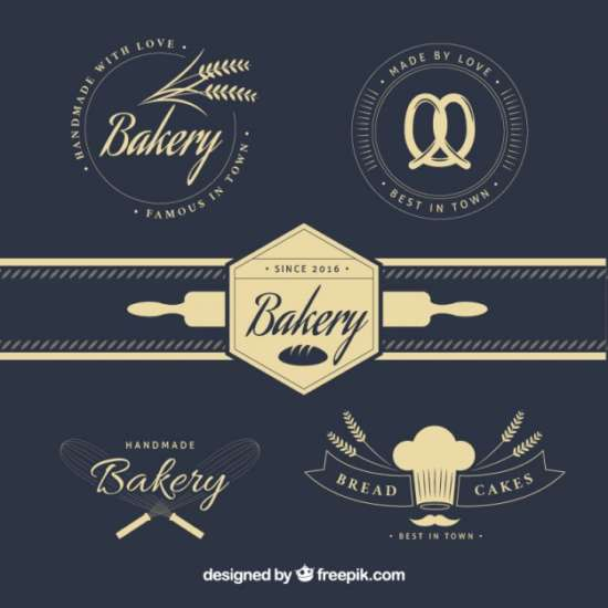 stylish_vintage_bakery_logos