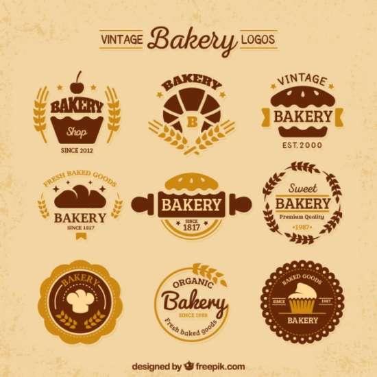 variety_of_vintage_flat_bakery_logos